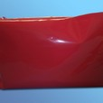 The pencil case red pvc cover