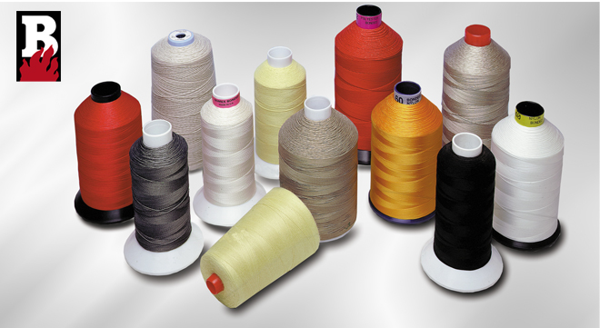 High temperature sewing threads